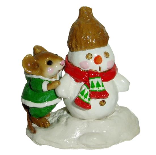 Snow Buddies M-188 (Green w/Red) by Wee Forest Folk®