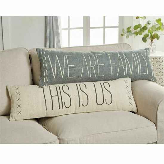 We Are Family Long Pillow by Mudpie