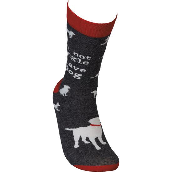 I'm Not Single I Have A Dog Socks by Primitives by Kathy