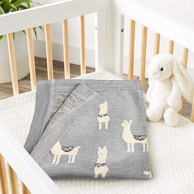Baby Blanket w/Llama  by Creative Co-op