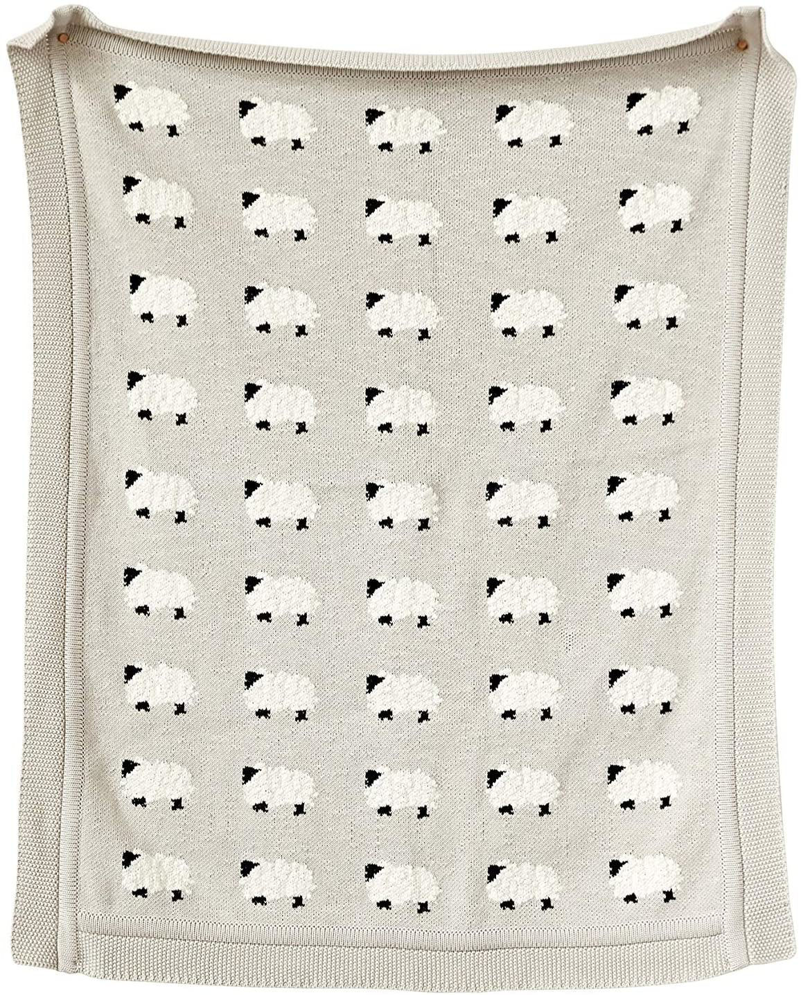 Baby Blanket w/Sheep by Creative Co-op