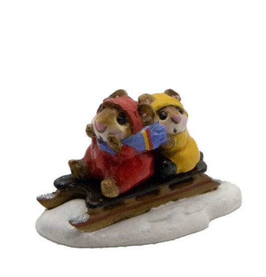 Little Sledder M-085 (Red) By Wee Forest Folk®