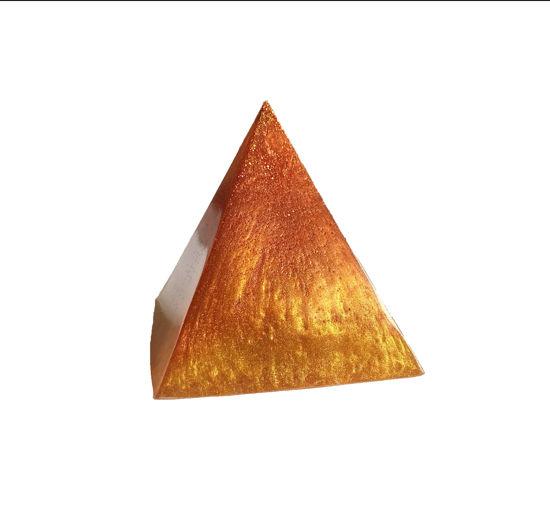 Sunrise Orange, Yellow, & Gold Extra Small Pyramid by Spirited Pyramids