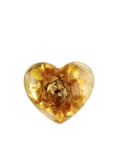 Golden Flower Small Heart by Spirited Pyramids