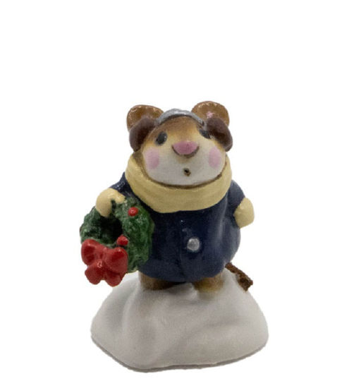 Holly Mouse M-087 (Navy) By Wee Forest Folk®