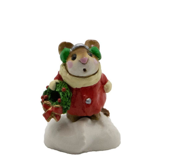 Holly Mouse M-087 (Red) By Wee Forest Folk®