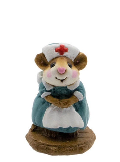 Mousey Nurse M-095 (Teal) By Wee Forest Folk®