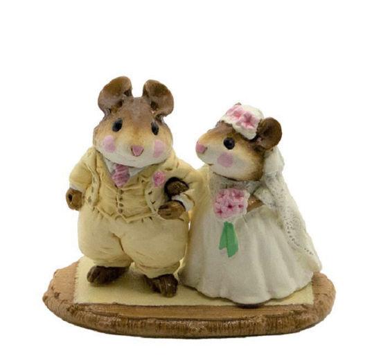 Wedding Mice M-067 (Cream) by Wee Forest Folk®