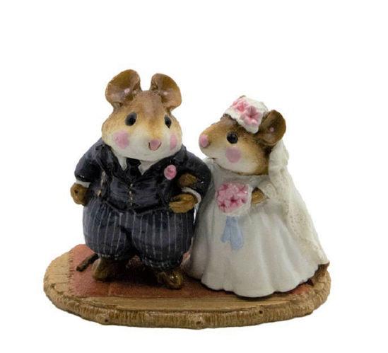 Wedding Mice M-067 (Gray) by Wee Forest Folk®