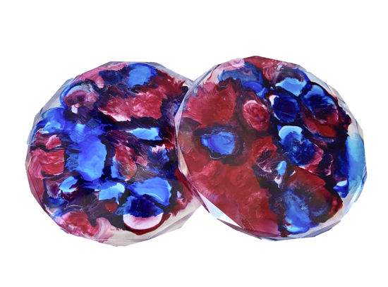 Red, White, & Blue Drops Coaster Set by Spirited Pyramids