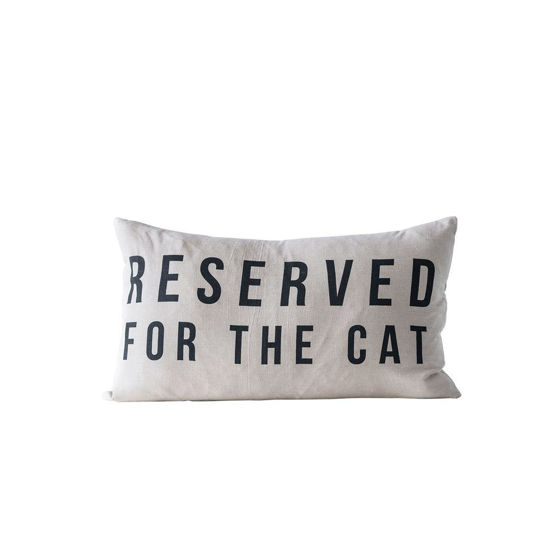 Reserved for the Cat Pillow by Creative Co-op