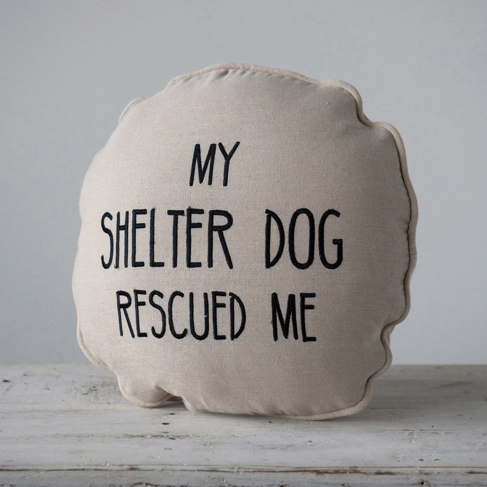 My Shelter Dog Pillow by Creative Co-op