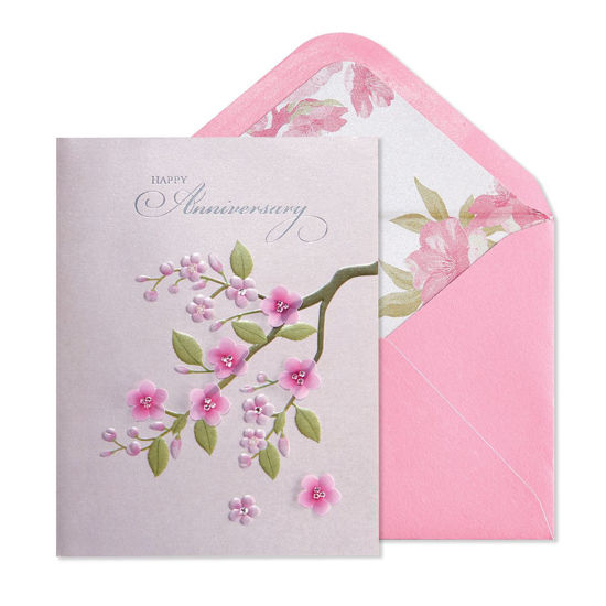 Cherry Blossom Anniversary Card by Niquea.D