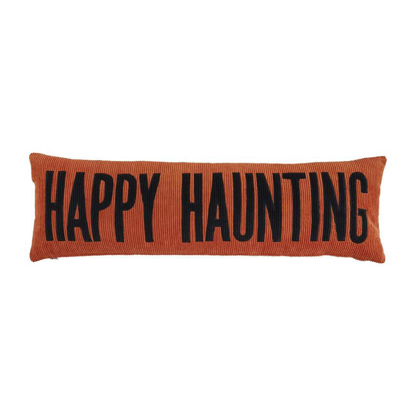 Haunt/Thankful Reversible Pillow by Mudpie