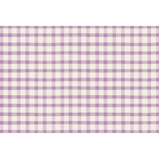 Lilac Painted Check Placemat by Hester & Cook