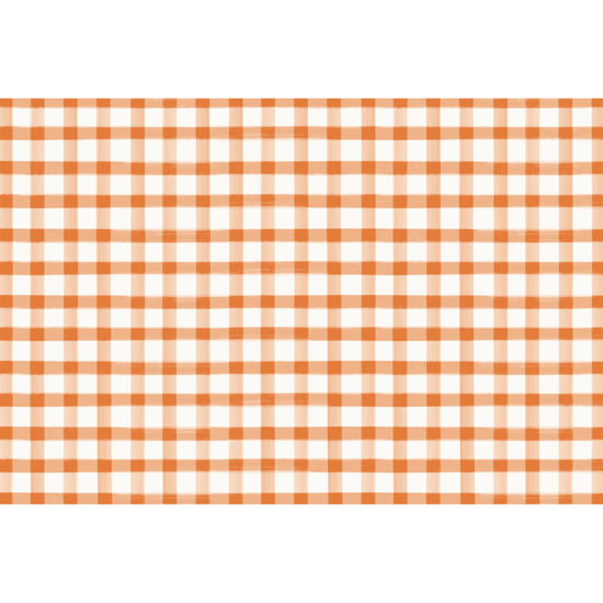 Orange Painted Check Placemat by Hester & Cook