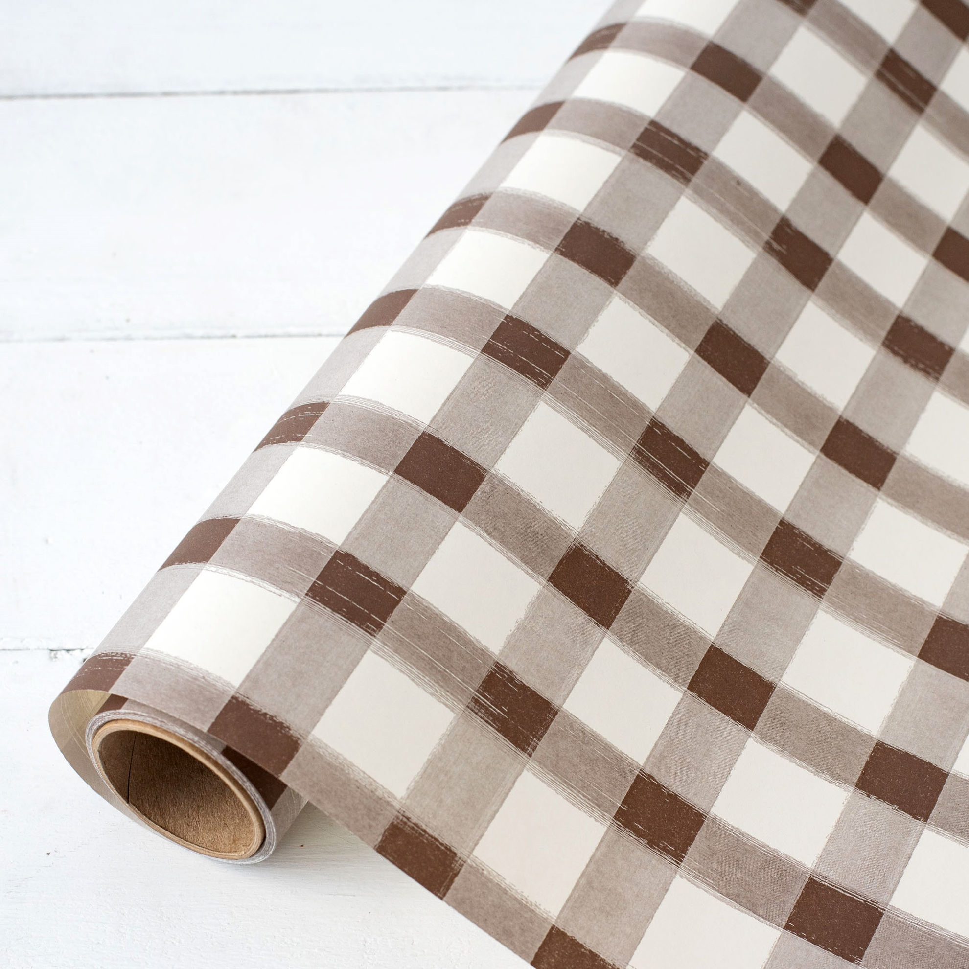 Brown Classic Stripe Runner by Hester & Cook