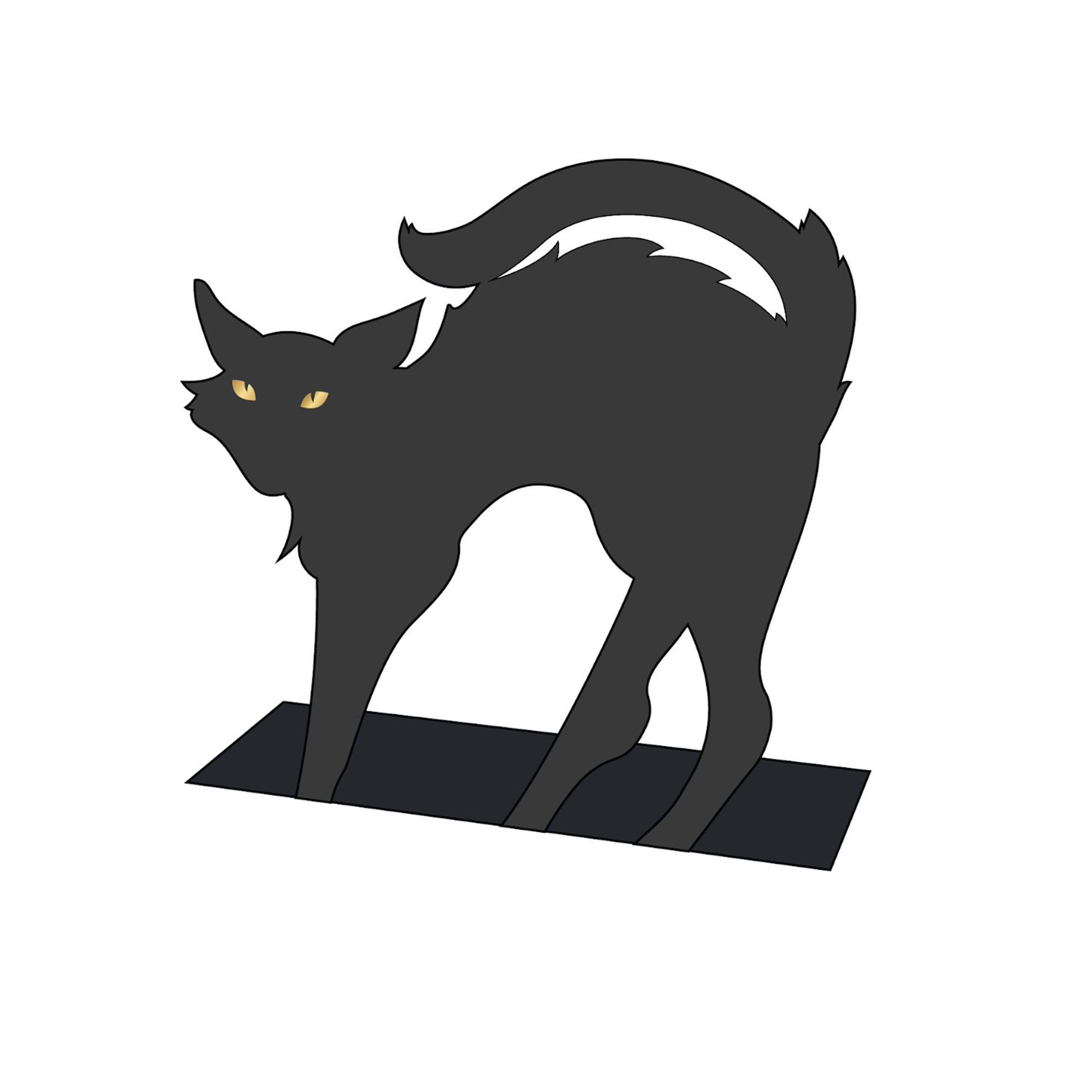 Black Cat Place Card by Hester & Cook