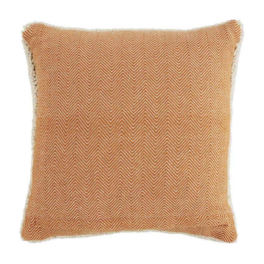 Pumpkin Hooked Pillow by Mudpie