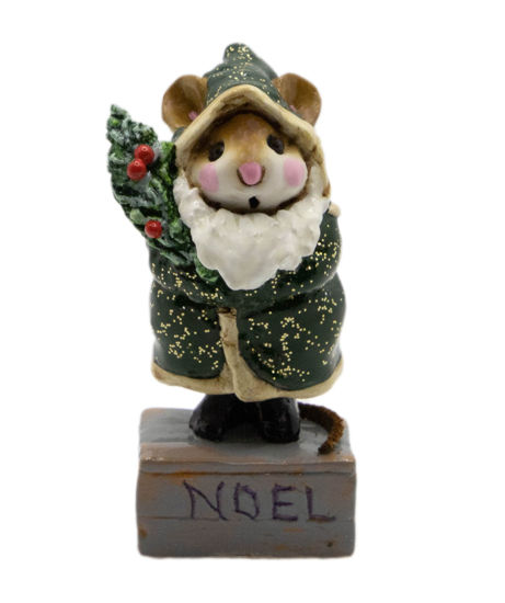Father Chris-Mouse M-164 (Green) by Wee Forest Folk®