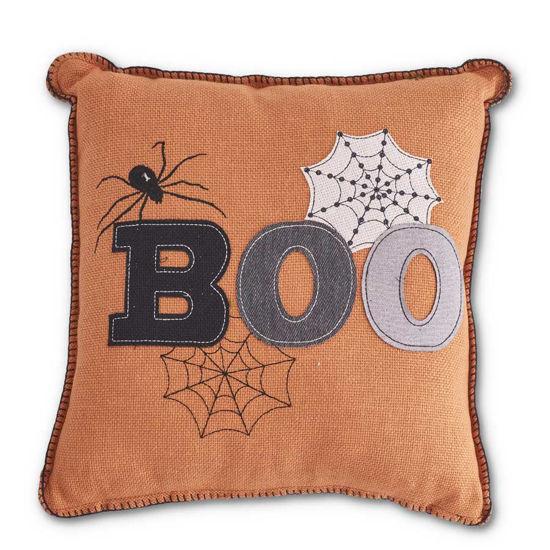 "Boo Orange 17"" Square Pillow by K & K Interiors"