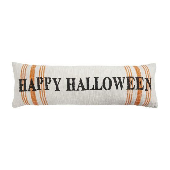 Halloween Stripe Long Pillow by Mudpie