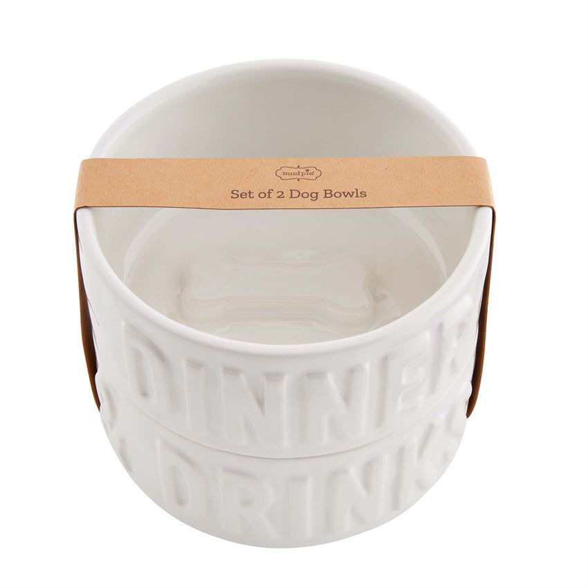 Stacked Dog Bowl Set by Mudpie