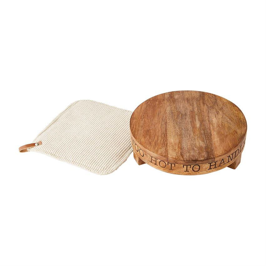 Wood Trivet and Pot Holder Set by Mudpie