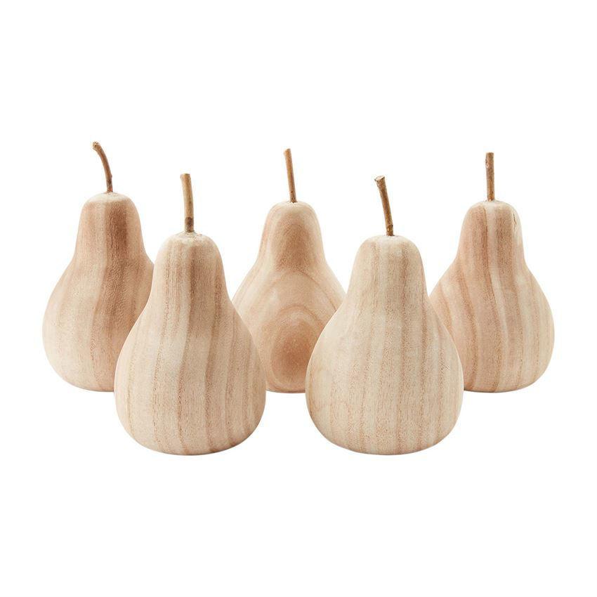 Paulownia Wood Pear by Mudpie