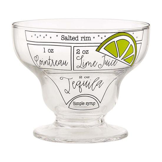 Stemless Ingredient Margarita Glass Set by Mudpie