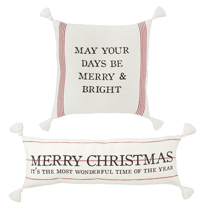 Christmas Loomed Pillows (Assorted) by Mudpie