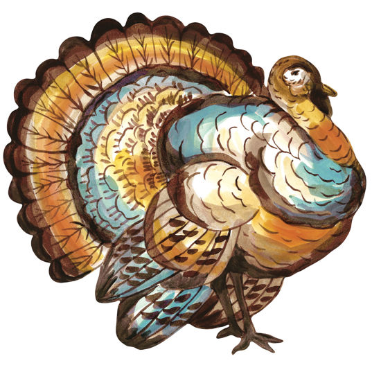 Die Cut Turkey Placemat by Hester & Cook