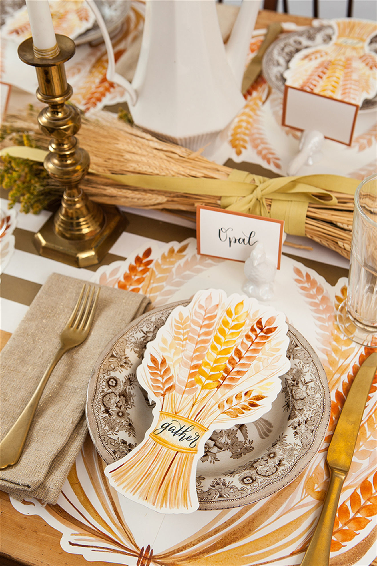 Die Cut Golden Harvest Placemat by Hester & Cook