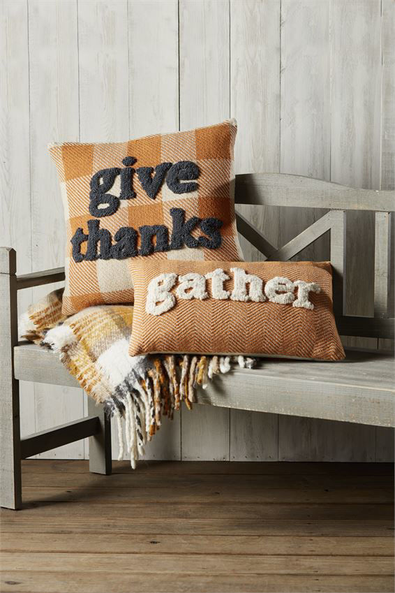 Gather Tufted Pillows (Assorted) by Mudpie