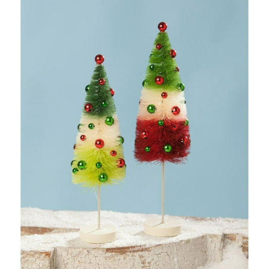 Jolly Tricolored Trees by Bethany Lowe Designs