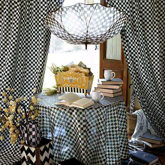 Courtly Check Seamless Umbrella by MacKenzie-Childs