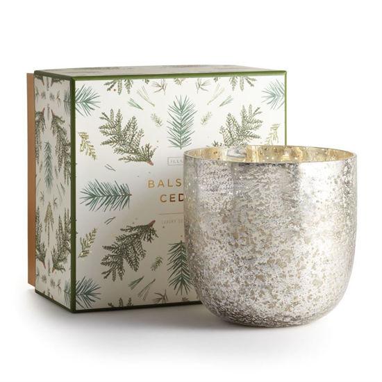 Balsam & Cedar Lux Sanded Mercury Glass Candle by Illume