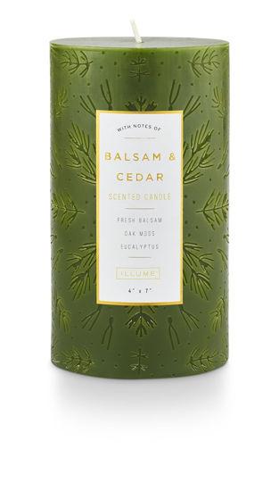 Balsam & Cedar 4 x 7 Large Etched Pillar by Illume