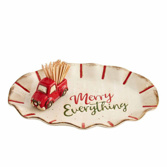 Christmas Toothpick and Plate by Mudpie