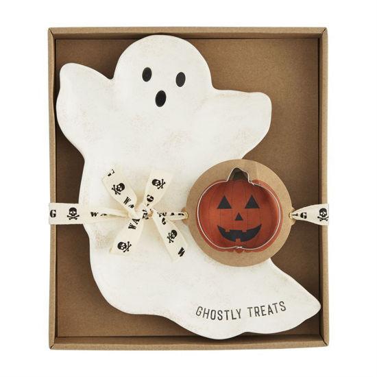 Ghost Cookie Plate Set by Mudpie