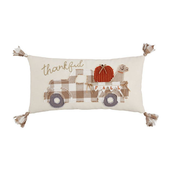 Fall Dog in Truck Pillow by Mudpie