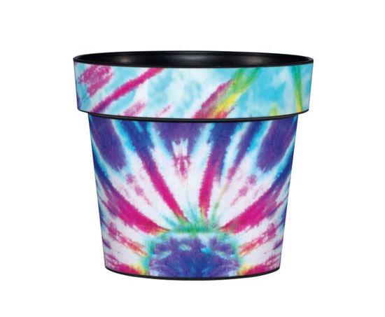 """Blue Tie-Dye 6"""" Art Pot by Studio M"""