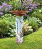 Sweet Home Bird Bath Art Pole with Copper Steel Topper by Studio M