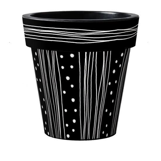 """Modern Black 18"""" Art Pot by Studio M"""
