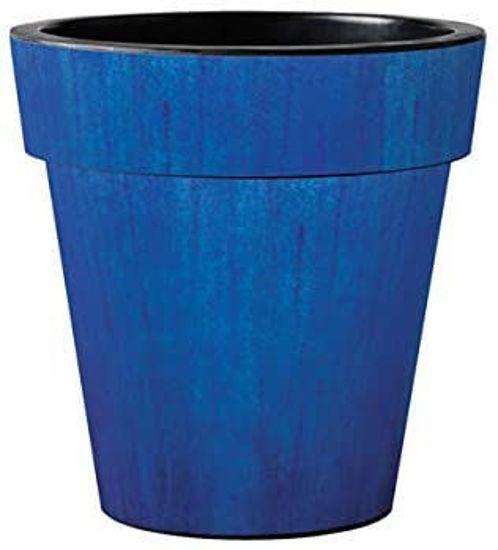 "Blue Ceramic Glaze 18"" Art Pot by Studio M"