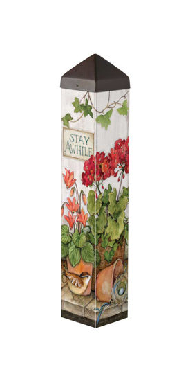 """Stay Awhile 20"""" Art Pole by Studio M"""