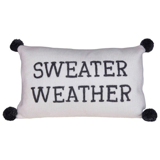 Sweater Weather Knit Pillow by Creative Co-op