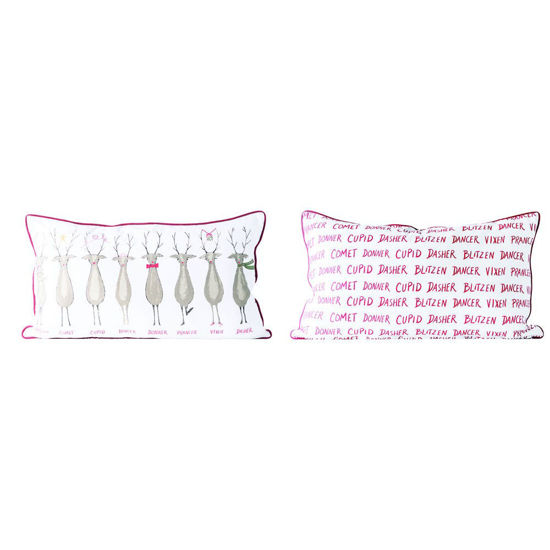 Santa's Reindeer Pillow by Creative Co-op