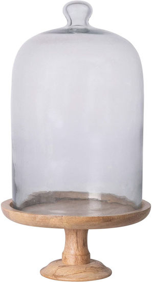 """10"""" Round x 16""""H Glass Cloche Set by Creative Co-op"""