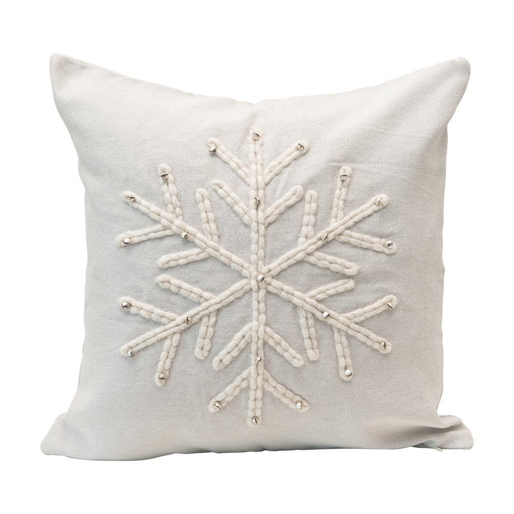Snowflake Square Pillow by Creative Co-op